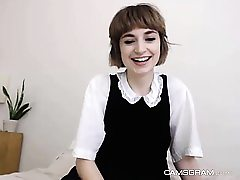 Beloved Obscene Short Hair Teen Lovemaking Show