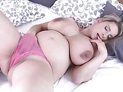 Pregnant Katerina Hartlova Leisurely Strips!