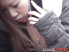 Youthful Asian chicks filmed going nasty in the city
