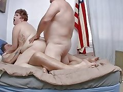 Swineys Pro Am sequence 152 BBW Cricket Rose Double penetration pt.2