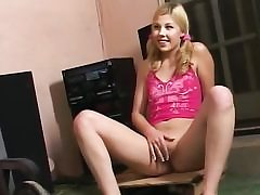 Youthfull light-haired teen tramp oral job and fuck